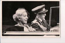 Vintage Postcard King Baudouin of Belgium & His Grandmother Queen Elisabeth