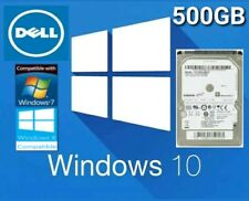 "500GB 2.5"" SATA Internal Laptop Hard Drive with DELL Windows 10 Pre Installed"