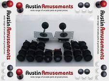 Black Arcade Pack. 2x Zippy Joysticks and 14 Buttons