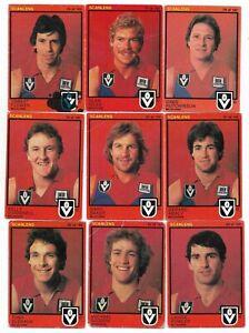 1982 Scanlens MELBOURNE Team Set (15 Cards)