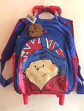 PADDINGTON BEAR : KIDS MINI CABIN WHEELED BAG TROLLEY SUITCASE LUGGAGE BACKPACK