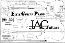 Luthiers Project Plan/Drawing for Left Hand Fender 51 Precision Bass guitarP041L