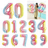 Gradient Color 0-9 Number Age Helium Balloons Foil Jumbo Birthday Party Decor、