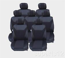 7 x HOUSSES NOIR COUVRE SIEGES POUR PEUGEOT 207 SW 806 807 PARTNER (7 PL.)