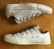 Converse All Star Lo White Leather UK Size 3 EU 35 Shoes Trainers