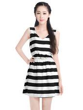 Stripes Dresses A-Line with Belt