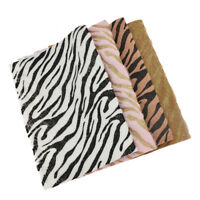 A4 Size Zebra Stripe Polyester Glitter Fabric for Bag Wallet Making Sewing Craft