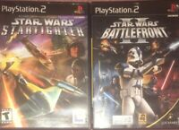 Star Wars Starfighter And Star Wars Battlefront 2 Playstation 2 Game Lot