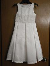First Communion Flower Girl Dress Bonnie Jean Girls size 7 Sequin