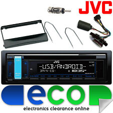 FORD ESCORT 96-00 JVC STEREO AUTO CD MP3 USB & VOLANTE Interfaccia Kit Nero