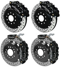 "WILWOOD DISC BRAKE KIT,FRONT & REAR WITH PARKING,88-96 CORVETTE,13"" DRILLED,BLK"