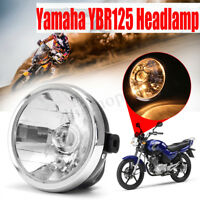 Motorcycle Headlight Round Head Light Amber HeadLamp For Yamaha YBR125 2002-2013