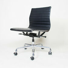 Pneumatic Black Eames Herman Miller Low Back Aluminum Group Chair 1 Available
