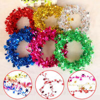 5m Star Pine Garland Wreaths Xmas Tree Hanging Ornament DIY Christmas Decoration