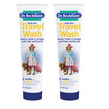 2 x 100ml Dr Beckmann Non-Bio Travel Wash - Wash your clothes anytime anyplace