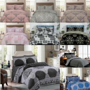 3 Pieces Printed Duvet Quilt Cover Bedding Set With Pillowcase Double King Size