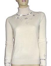 LUXE OH `DOR®100%Cashmere Rollkragen Pullover Manhattan Luxe weiß white 50/52 XL