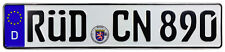 Rüdesheim Front German License Plate (RÜD) by Z Plates with Unique Number NEW