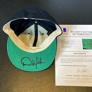 Earliest Known Derek Jeter Pre Rookie 1992 Signed New York Yankees Hat Beckett