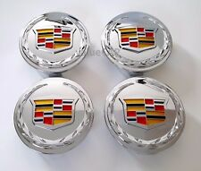 Chrome Color Center Caps Cadillac Escalade 2007-2013 ESV EXT 9595891 4pcs 83mm