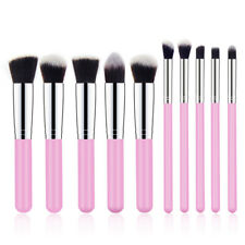 10Pcs Makeup Brush Tools Pro Powder Foundation Eyebrow Lip Cosmetic Pencil Brush