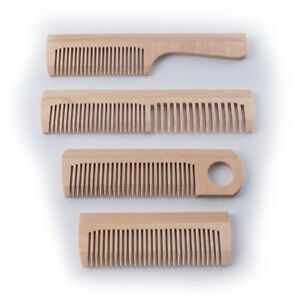 Wooden Comb / Natural Wood/ Choice of 4 /Hair Beard Mustache Brush Tooth Massage