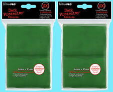 Ultra Pro 200 GREEN DECK PROTECTOR Standard Size Card Sleeves NEW magic ccg mtg