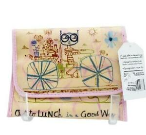 Art Bird Lunch Snack Sandwich Bag Washable Insulated Carrier Masks Hand-wipes