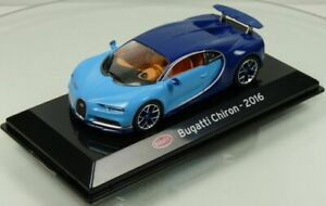 Bugatti Chiron 2016 1/43 Scale on Plynth & Case T48 Post