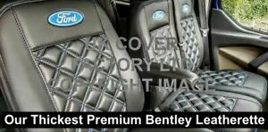 IN STOCK EXTRA PADDED VAN SEAT COVERS FORD TRANSIT CUSTOM BLUE BENTLEY 4FORD
