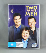 TWO AND A HALF MEN: SEASON 4 COMPLETE (DVD, 2008, 4-DISC SET) EXCELLENT COND