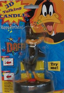 TALKING DAFFY DUCK BIRTHDAY CAKE CANDLE WISHES YOU HAPPY BIRTHDAY LOONEY TUNES