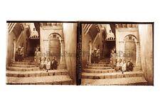 Afrique du Nord Maghreb Algérie Alger Orientalisme Plaque stéréo Vintage