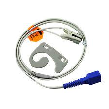SpO2 Sensor For Nellcor Oximeter DS100A Tongue Vet  Finger Clip 7 Pin Cable