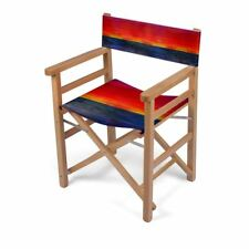 Sunset Designer Director Chair, Handmade to order, Sustainable Eco Wood, Folding