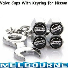 For Nissan Logo Emblem Wheel Tyre Valve Dust Cover Screw Caps Car GT Nismo Gift