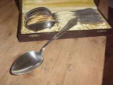 WMF Patent 90 45, 6 Suppenlöffel, Menuelöffel, im Besteckkasten
