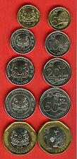 SINGAPORE 0.05, 0.10, 0.20, 0.50 - 1.00 Bi - Metallic 5 pc UNC - NEW ISSUE 2013