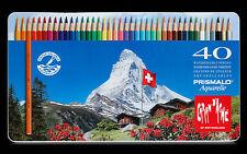 Caran D'ache Prismalo Aquarelle Colour Pencil - Assorted (Pack of 40)