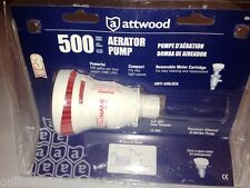 ATTWOOD TSUNAMI T-500 GPH LIVEWELL AERATOR BALLAST & BILGE PUMP 4643-7