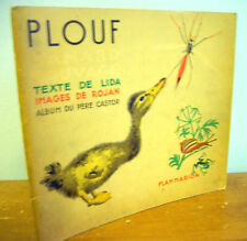 PLOUF Canard Sauvage by Lida, Illustrations by Rojan 1935 French Children's Book