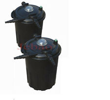 6000 Gallon Pressurized 24 Watts UV Bio Koi Fish Pond Filter w/ Easy Backwash
