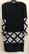Vintage Galanos Silk Black + White Dress Size 8