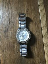 Fossil Ladies Stainless Steel And Diamanté Watch