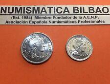 EUSKADI BILBAO 1 PESETA + 2 PESETAS 1937 @LUJO@ KM#1 KM#2 GUERRA CIVIL EUZKADI