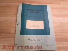 Lambda IM-LXS-C Instruction Manual For Regulated Power Supplies