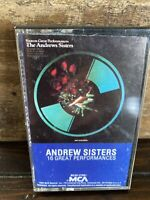 The Andrews Sisters – 16 Great Performances - MCAC 27081 - 1982 - Cassette
