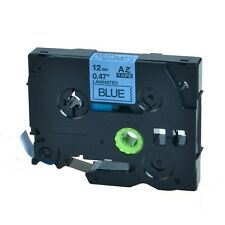 """Q-Label 12mm (1/2"""") TZe Tape Compatible For Brother P-Touch (Black on Blue)"""
