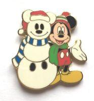 Disney Pin Badge Disney Catalog - Mickey Holiday Snowman Cloisonne Pin
