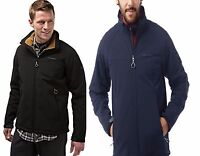 CRAGHOPPERS MENS MOORSIDE SOFTSHELL JACKET BLACK or DARK NAVY CML054